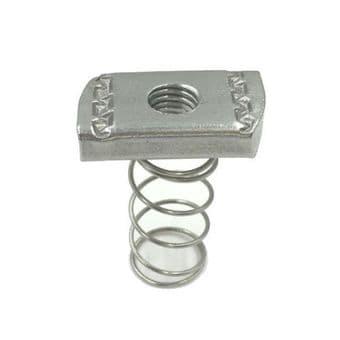 6mm Channel Nut Long Spring Per 10