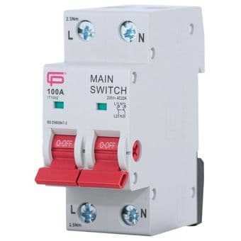 FuseBox IT1002 100A Double Main Switch