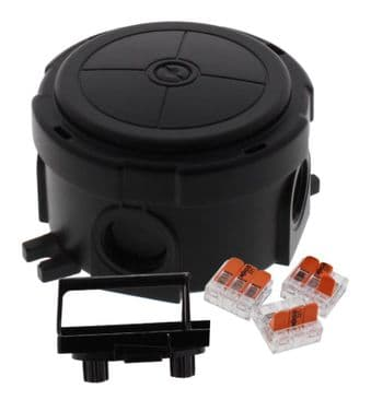 Wiska Round Combi Box Blackwith Wago 221 Connectors