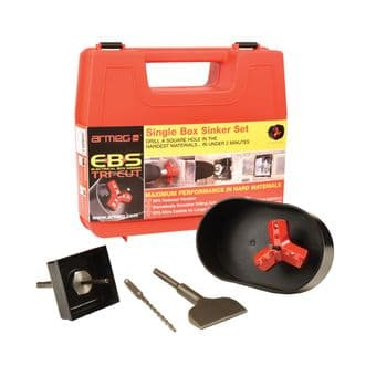 Armeg Electrical Box Sinker Tri-Cut Set