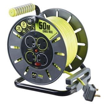 BG Electrical OMU25134SL 25 Metre Open Reel 4 Sockets