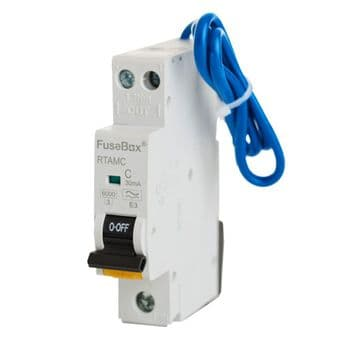 FuseBox RTAMC10 Mini RCBO 10amp Type A - C Curve 2 Pole