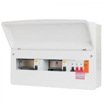 FuseBox F2006DXA 6 Way Dual 80A RCD Consumer Unit + Surge Protection
