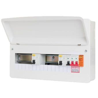 CP Fusebox F2016DX100 16 Way Dual 100 Amp Type A Consumer Unit + Surge Protection