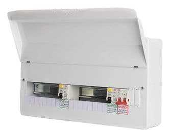FuseBox F2017DA 17 Way Dual 80A Type A RCD Consumer Unit