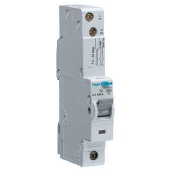 Hager ADA160U RCBO C Type Single Pole 10 Amp 30mA 10kA
