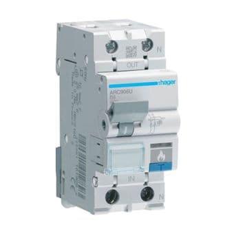 Hager ARC906U 6A 6kA Arc-Fault Detection Device 2 Pole 2 Module Class 2
