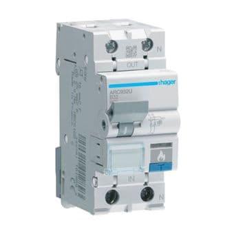 Hager ARC932U 32A 6kA Arc-Fault Detection Device 2 Pole 2 Module Class 2