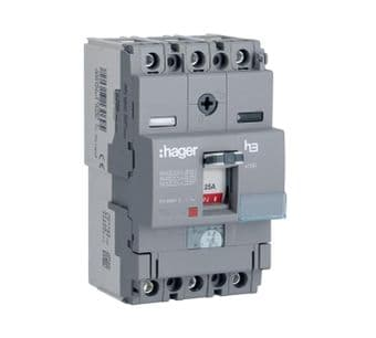 Hager HDA080U 80A Triple Pole 18kA MCCB