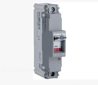 Hager HDA098Z 100A Single Pole 18kA MCCB