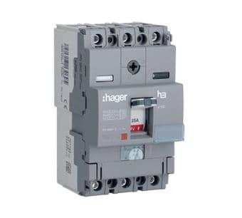 Hager HDA100U 100A Triple Pole 18kA MCCB