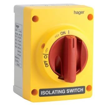 Hager JG02S 25amp 3 Pole Isolator TP&N Enclosed IP65