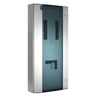 Hager JK124BG 24 Way Three Phase Distribution Board - Invicta 3 TPN Glazed Door