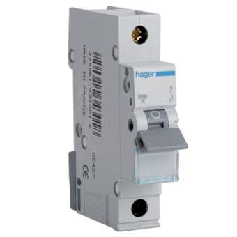 Hager MTN110 10A 6kA MCB B Type Circuit Breaker Din Rail Mounted