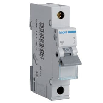Hager MTN140 40A 6kA MCB B Type Circuit Breaker Din Rail Mounted