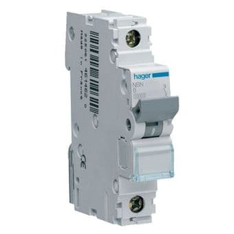 Hager NBN116A 16A 10kA Rated Short Circuit MCB Type B Single Pole