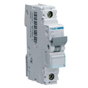 Hager NCN101A 1A 10kA Rated Short Circuit MCB Type C Single Pole