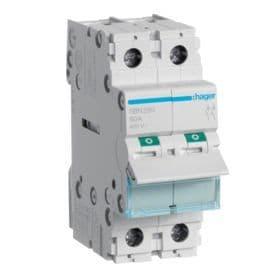 Hager SBN263 63A Double Pole Isolator