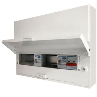 Hager 10 Way High Integrity Dual 100A RCD Consumer Unit VM910CU Design 30
