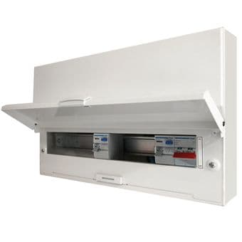Hager VM966HK 12 Way Dual RCD Metal Consumer Unit Design 30