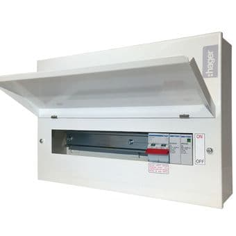 Hager VML108SPD 8 Way RCBO Consumer Unit Type 2 Surge Protection Device