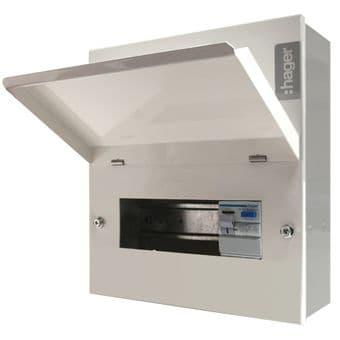 Hager VML306AH 6 Way Metal Consumer Unit 100A RCD Incomer Ammendment 3