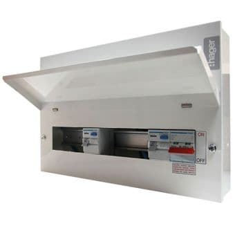 Hager VML908CUSPD 8 Way High Integrity Consumer Unit with Surge Protection