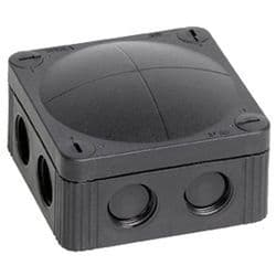 Wiska Combi 308/5 85x85 Black Waterproof Junction Box
