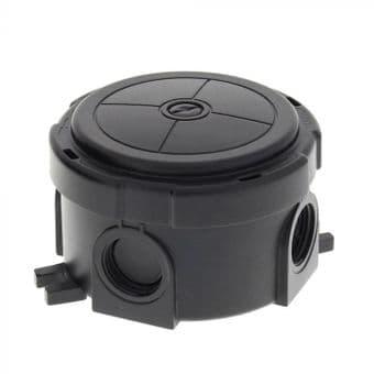 Wiska 304 Round Combi Box Black
