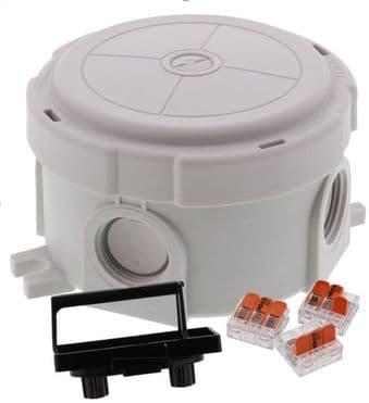 Wiska Round Combi Box Grey with Wago 221 Connectors