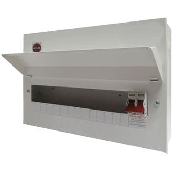 Wylex NM1406L 14 Way Metal Consumer Unit with 100A Main Switch