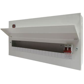 Wylex NM1906L 19 Way Metal Consumer Unit with 100A Main Switch