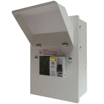 Wylex NMRS206/40 2 Way Metal Consumer Unit 40 Amp RCD Incomer
