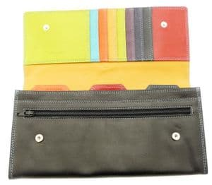 Leather Travel Wallet / Travel Document Holder For Passport Tickets