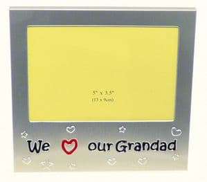 We Love Our Grandad Photo Picture Frame Gift 5 x 3.5