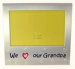 We Love Our Grandpa Photo Picture Frame Gift 5 x 3.5