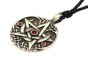Wiccan Pewter Druids Tree Pendant On Adjustable Black Cord Necklace - STYLE B