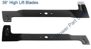 "36"" Blades High Lift Fits Mountfield T35M, 1436M, 1436H, 1236H, 1636M, 1435E Models - 182004344/1, 182004345/1"