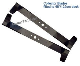 "Blade Set 48"" Deck Mower Blades High Lift Mountfield 2048H, 2048M, 2248H - 182004343/0, 182004342/0"