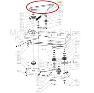 Oleo Mac Efco AGS OM104J, OM105J, OM106J Engine to Deck Belt 272731192, SGN272731192