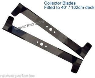 "Set Of Deck Blades 40"" High Lift Fits  Alpina One 102 YH 82004340/0, 82004341/0"
