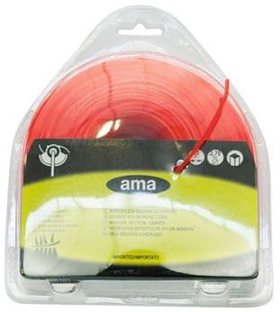 SQUARE BRUSHCUTTER STRIMMER CORD LINE 3MM X 48 METERS. MADE IN ITALY