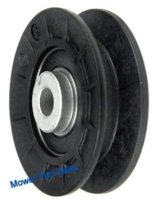 """V Idler Transmission Plastic Pulley 2.50"""" OD Fits Husqvarna CTH160, CT130, CTH130, CTH150, Jonsered  ICT13A, ICT16A, & Grasshooper 393312, 532165626"""