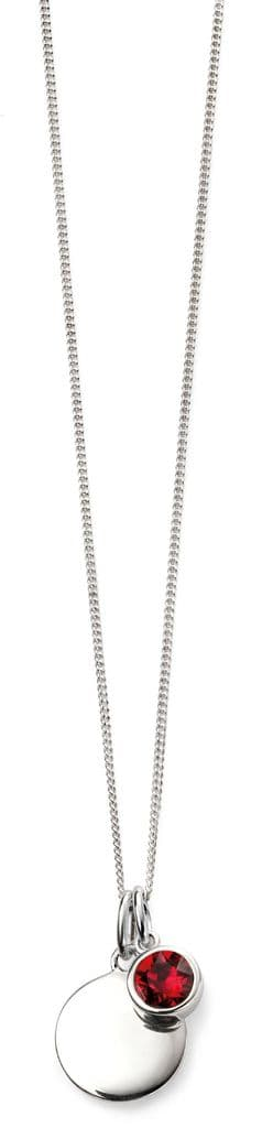 Beginnings July Birthstones and Disc Necklace P4596