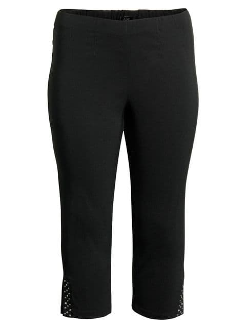 CISO Black 3/4 Length Trousers