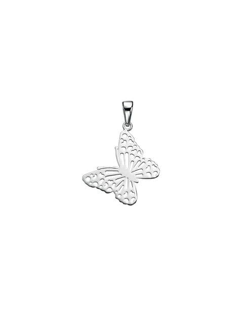 Elements Silver Cut Out Butterfly Pendant P3479