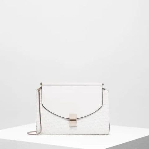 Fiorelli Penelope Cream Woven Clutch Bag