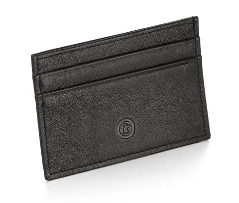 Fred Bennett Black Leather Cardholder W015
