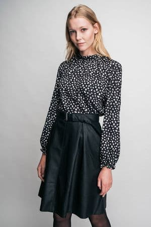 Missing Johnny Tons Black Faux Leather Skirt