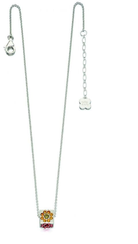 Orla Kiely  Sterling Silver Swarovksi Crystal Cube Necklace N4036